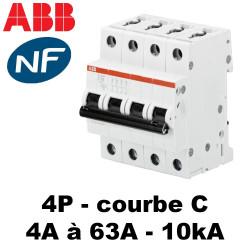 Disjoncteur tétrapolaire 10kA C - ABB S200M
