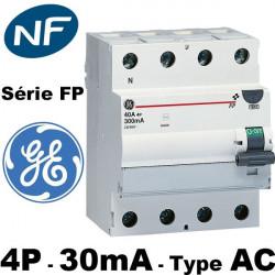 Interrupteur différentiel tétrapolaire 30mA General Electric