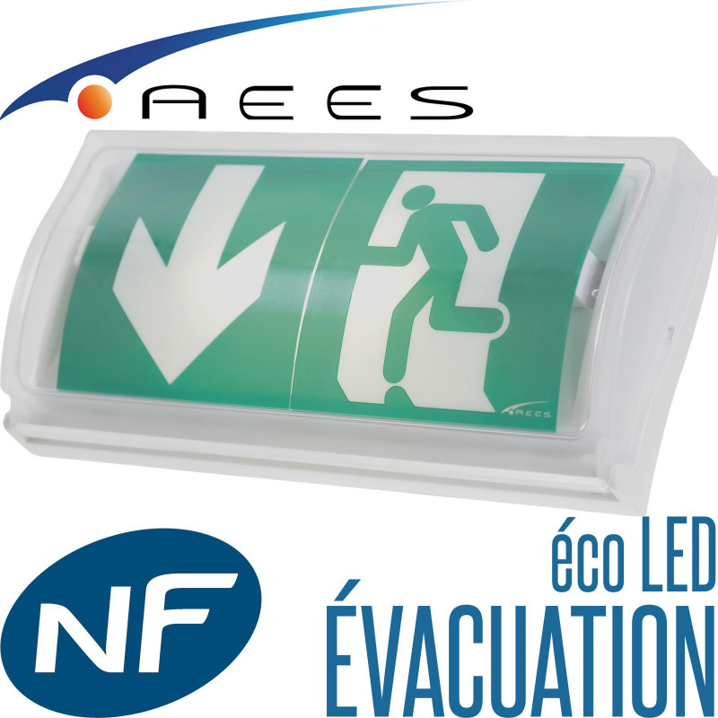 Bloc autonome d'évcacuation Astus Eco LED 45lm performance SATI par AEES