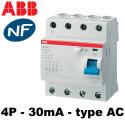Interrupteur différentiel tétrapolaire 30mA
