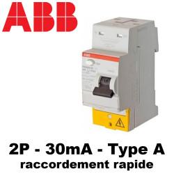Interrupteur différentiel type A 30mA 2P FH202S