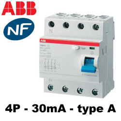 Interrupteur différentiel tétra 3P+N 30mA type A