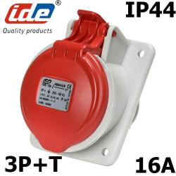 Socle tableau prise triphasé 3P+T 16A IP44