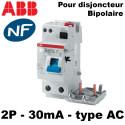 Bloc différentiel 30mA type AC Bipolaire ABB