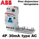 Bloc différentiel 30mA tétrapolaire type AC ABB