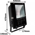 Dimensions du projecteur à iodure 250W