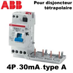Bloc différentiel tétrapolaire 30mA Type A ABB