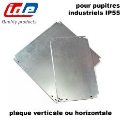 Plaque de montage pour pupitres industriel IP55