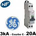 Disjoncteur Phase Neutre 3KA Courbe C General Electric General Electric