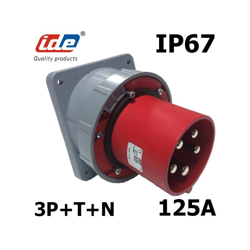Prise murale 125A tétrapolaire IP67 380V IDE