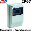 Coffret électrique étanche IP67 8 modules