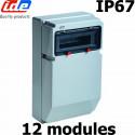 Coffret électrique étanche IP67 12 modules
