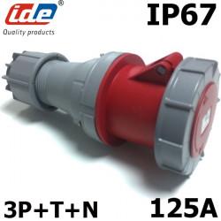 Prise tétrapolaire femelle 125A IP67