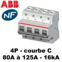 Disjoncteur tétrapolaire courbe C 16KA 6 modules ABB