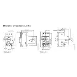 Disjoncteur magnéto thermique pour moteur triphasé MS116 ABB