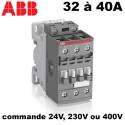 Contacteur 3 poles pour moteur triphasé 32A ou 40A ABB