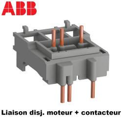 Adaptateur pour raccordement d'un disjoncteur moteur et contacteur ABB