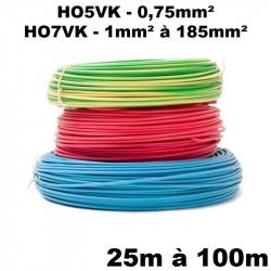Fil souple de câblage HO5VK et HO7VK