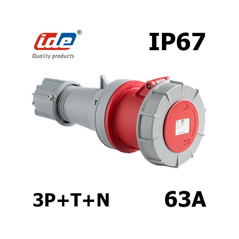 Fiche femelle 63A 5 broches 3P+N+T 380V IP67 380V IDE