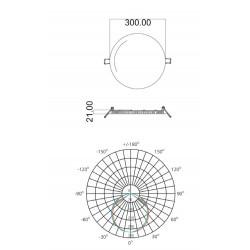 Spot led extra plat encastrable 16/20W - 3000/4000K - 50000h - UGR inf.21 LITED