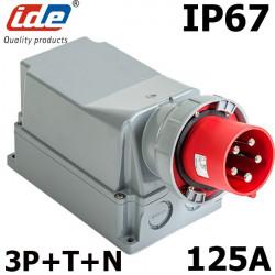 Socle prise hypra tétrapolaire 125A IP67