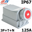 Socle mural 3P+N+T 380V prise 125A IP67 IDE