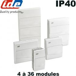 Tableau électrique à encastrer IP40 IDE de 4 modules à 3 rangées