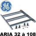Chassis modulaire avec rail DIN pour coffret polyester GE Aria de 12 à 180 modules sur 5 rangées