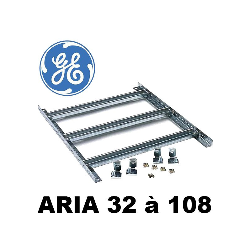 Chassis modulaire avec rail DIN pour coffret polyester GE Aria General Electric