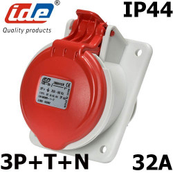 Prise 32A à encastrer 3P+N+T - 380V