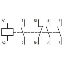 Contacteur 25A bobine 24V AC ou DC - ABB ABB