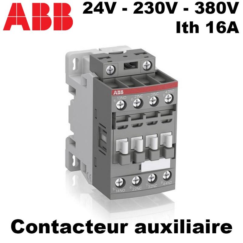Contacteur auxiliaire 24V, 230V ou 380V - ABB ABB