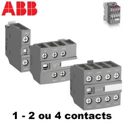 Bloc de contact frontal 2 ou 4 contacts pour contacteur ABB