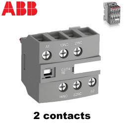 Bloc de contact frontal 2 ou 4 contacts pour contacteur ABB ABB