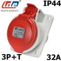 Prise 32A de tableau triphasée 3P+T 380V étanche IP44 IDE