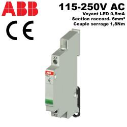 Voyants modulaires de signalisation pour tableau électrique 230V à LED ABB