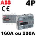 Sectionneur 160A ou 200A - 4P avec manette - ABB ABB