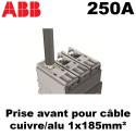 Disjoncteur tétrapolaire 250A 4P4D 50kA de type boitier moulé ABB