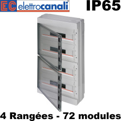 Coffret étanche IP65 72 modules Elettrocanali
