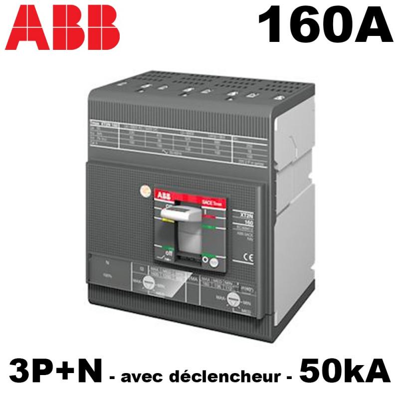 Disjoncteur tétra 160A 3P+N 50kA avec déclencheur XT2S ABB