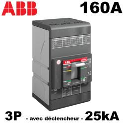 Disjoncteur triphasé 160A 3P3D 25kA boitier moulé ABB