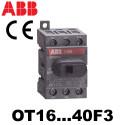 Inter sectionneur 3 à 4 pôles de 16A à 125A - OT16 à 125A ABB ABB