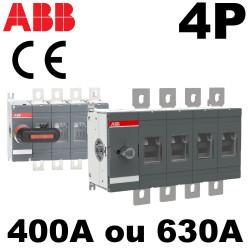 Sectionneur 4P 400A à 630A - ABB ABB
