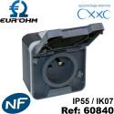 Prise étanche IP55 2P+T 16A OXXO Eurohm Eur'Ohm