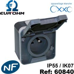 Prise étanche IP55 2P+T 16A OXXO Eurohm