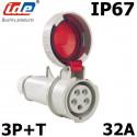 Prise triphasée femelle 32A IP44 IDE