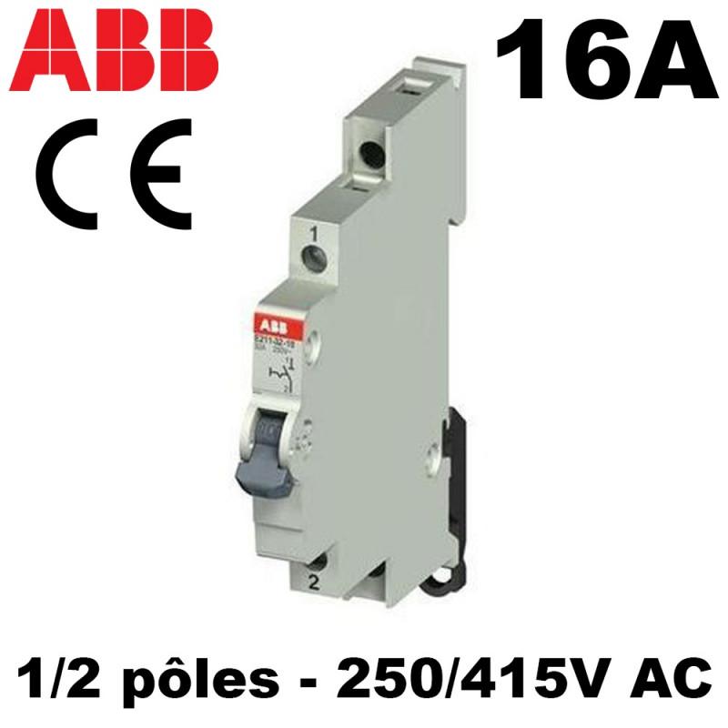 Interrupteur modulaire 16A 1NO à 4NO 240/415V ABB