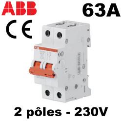 interrupteur sectionneur 63A 2NO 230V~ 2 mod.