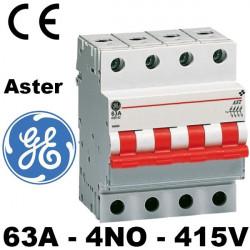Interrupteur sectionneur tétrapolaire 63A 4NO 415V General Electric