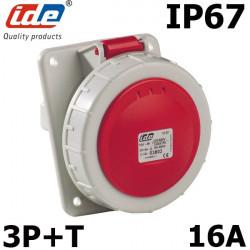 Socle tableau prise triphasé 3P+T 16A IP44 IDE